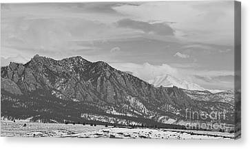 Rocky Mountain Canvas Print - Rocky Mountains Flatirons And Longs Peak Panorama  2 by James BO  Insogna