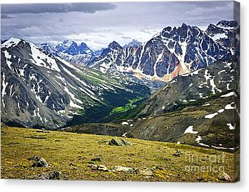 Rocky Mountains In Jasper National Park Canvas Print by Elena Elisseeva