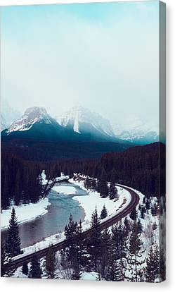 Rocky Mountains Canvas Print by Kim Fearheiley