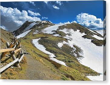 Rocky Mountains Path Canvas Print