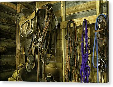 Rocky Mt Tack Room Canvas Print