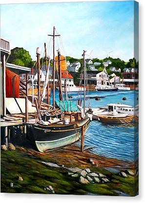 Rocky Neck October Canvas Print by Eileen Patten Oliver