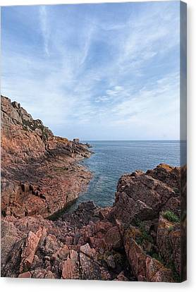 Rocky Ocean Inlet - Jersey Canvas Print