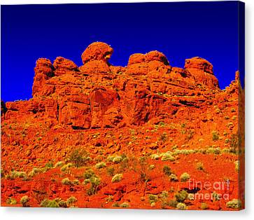 Canvas Print featuring the photograph Rocky Outcrop by Mark Blauhoefer