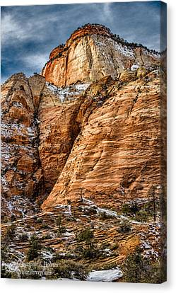 Rocky Peak Canvas Print by Christopher Holmes
