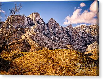 Canvas Print featuring the photograph Rocky Peaks by Mark Myhaver