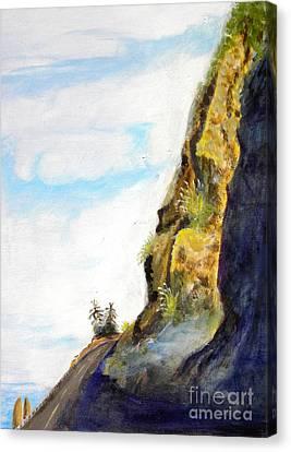 Rocky Point At Big Sur Ca Canvas Print by Susan Lee Clark