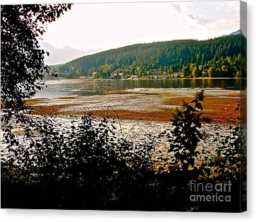 Rocky Point Port Moody Canvas Print by Sher Nasser