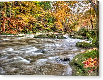 Canvas Print featuring the photograph Rocky River by Brent Durken