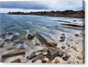 Rocky Seaside In Color Canvas Print