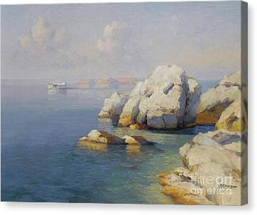 Rocky Shore Canvas Print by Celestial Images