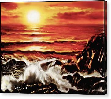 Rocky Shore Canvas Print by Marcos Lara