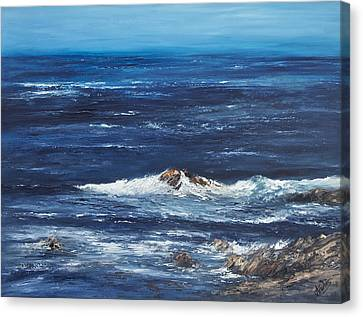 Rocky Shore Canvas Print by Valerie Travers
