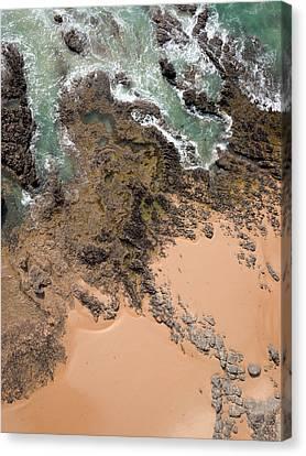 Rocky Shoreline Abstract Cape Woolamai Canvas Print