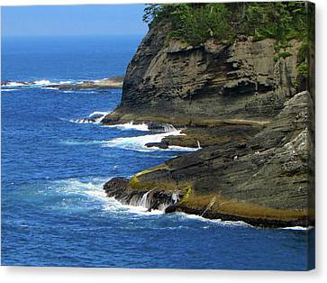 Rocky Shores Canvas Print by Tikvah's Hope