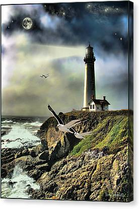Tom Schmidt Canvas Print - Rocky Shores by Tom Schmidt