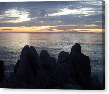 Rocky Silhouettes Canvas Print by Mike Podhorzer