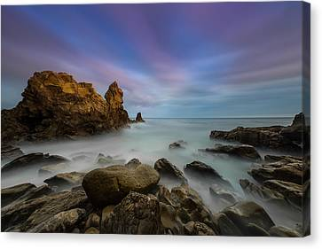 Rocky Southern California Beach Canvas Print by Larry Marshall