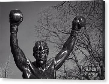 Rocky Statue Canvas Print