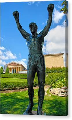 Rocky Statue Canvas Print - Rocky Statue by Mitch Cat