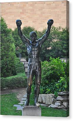 Rocky Statue - Philadelphia Canvas Print by Bill Cannon