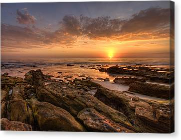 Rocky Sunset Canvas Print by Peter Tellone