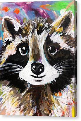 Rocky The Raccoon Canvas Print by Kim Heil