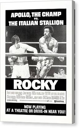 Rocky, Us Poster, Sylvester Stallone Canvas Print