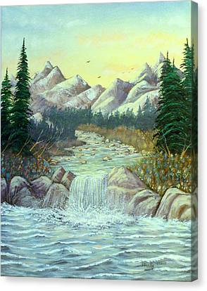 Rocky Waters Canvas Print by David Bentley