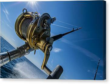 Rod And Reel Canvas Print by Kevin Cable