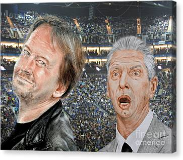 Roddy Piper And Vince Mcmahon  Canvas Print