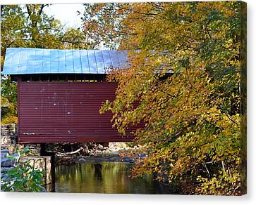 Roddy Road Covered Bridge Canvas Print by Cathy Shiflett