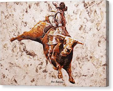 Rodeo 1 Canvas Print by J- J- Espinoza