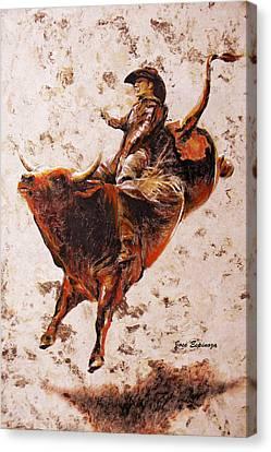 Folkloric Canvas Print - Rodeo 2 by J- J- Espinoza