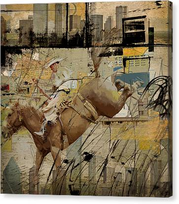 Rodeo Abstract 001 Canvas Print