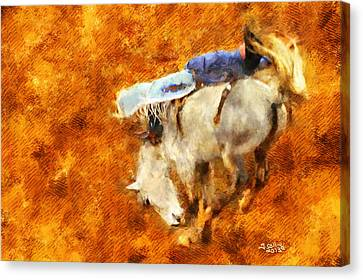 Rodeo Canvas Print - Eight-second Ride by Greg Collins