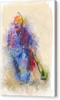 Rodeo Clown Canvas Print by Andrea Auletta