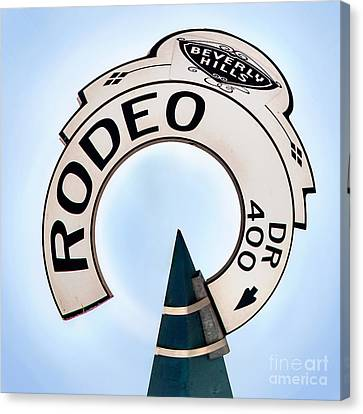 Rodeo Drive Sign Circagraph Canvas Print by Az Jackson