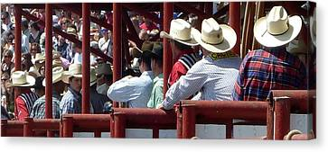 Canvas Print featuring the photograph Rodeo Time Cowboys by Susan Garren