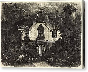 Rodolphe Bresdin French, 1822 - 1885, The Haunted House Canvas Print by Quint Lox