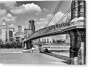 Roebling Bridge Canvas Print by Diana Boyd