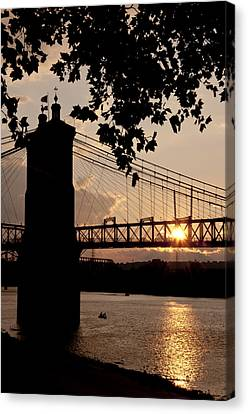 Roebling Silhouette Canvas Print by Russell Todd