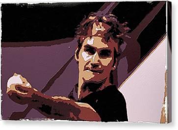 Roger Federer Poster Art Canvas Print by Florian Rodarte