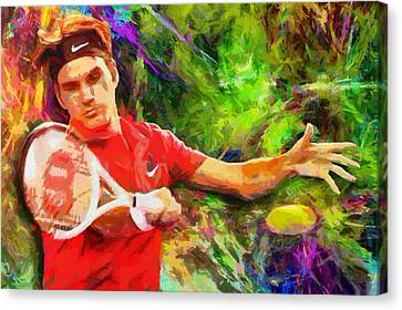 Roger Federer Canvas Print by RochVanh