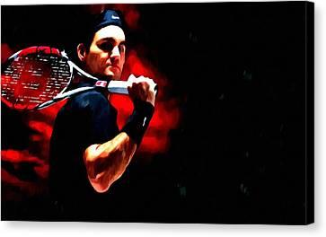 Roger Federer Tennis Canvas Print