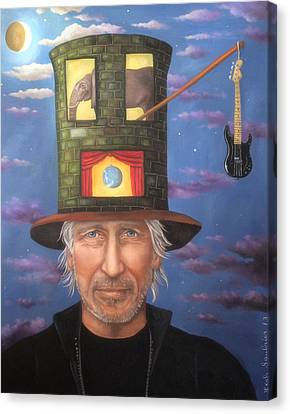 Roger Waters Edit 3 Canvas Print by Leah Saulnier The Painting Maniac