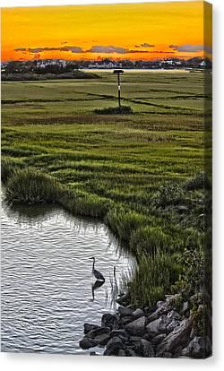 Rogers Drawbridge Sunset Canvas Print
