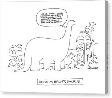 Roget's Brontosaurus Canvas Print