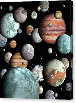 Rogue Planets Canvas Print by Lynette Cook