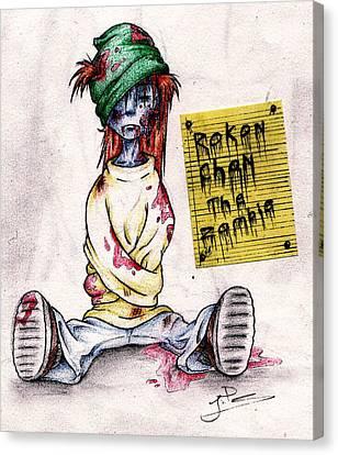 Rokon Chan The Zombie Canvas Print by Rokon Chan